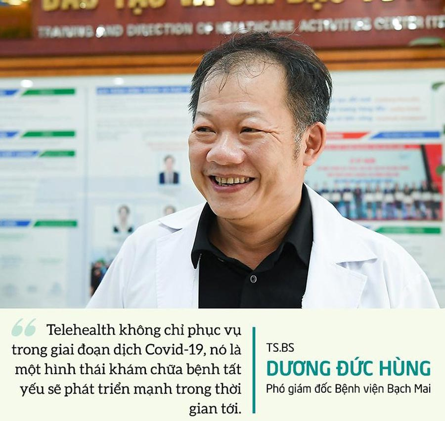 TS.BS Dương Đức Hùng: 'Hệ thống Telehealth sẽ phát triển mạnh'