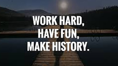 Quote of the day work hard
