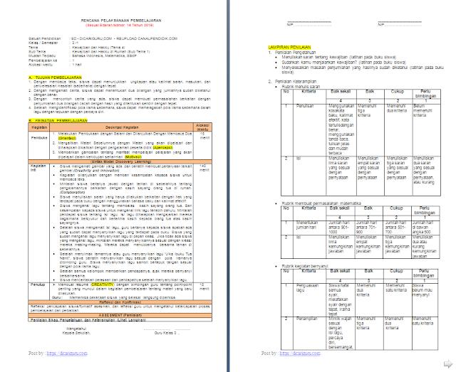 RPP 1 Lembar Kelas 3 SD/MI Tema 4: Kewajiban dan Hakku