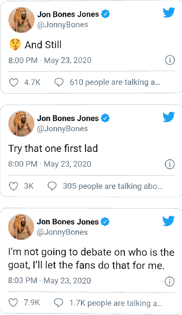 Jon Jones Replies Conor McGregor