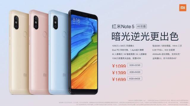 Xiaomi представила Redmi Note 5 з більш яскравою камерою і AI