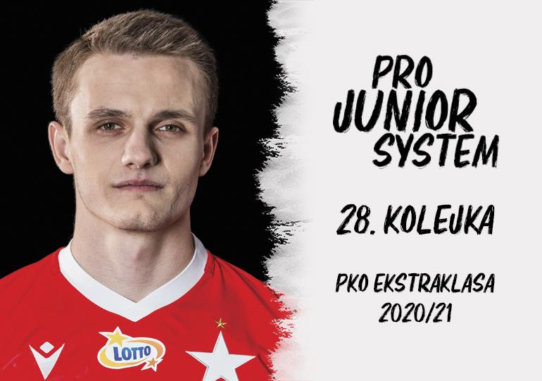 Patryk Plewka<br><br>fot. Wisła Kraków / wisla.krakow.pl<br><br>graf. Bartosz Urban