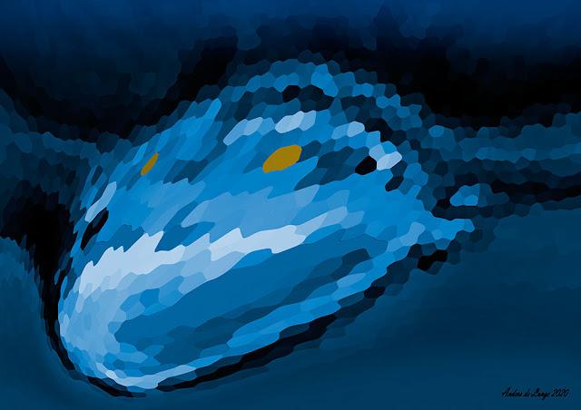 Blått monster