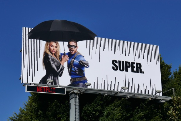 Umbrella Academy extension cut-out billboard