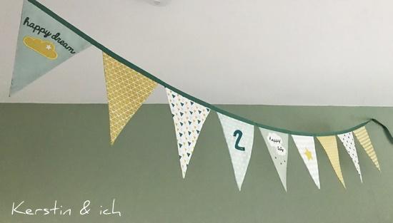 Kinderzimmer Junge Mintfarben Wimpelkette