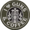 Image: Official Tactical Guns and Coffee Velcro Morale Military starbucks Patch