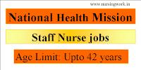 National Health Mission Staff Nurses Recruitment