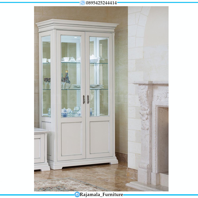 Lemari Hias Putih Duco Minimalis Terbaru Best Quality Item RM-0182