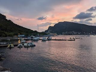 View from Locanda Lorena (Palmaria) to Porto Venere - after sun down