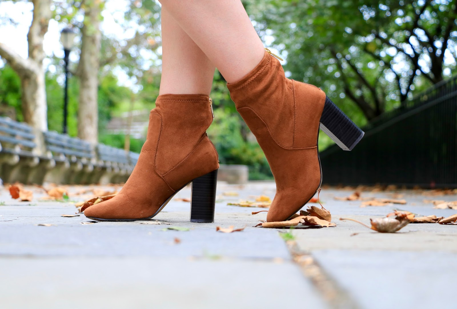 brown suede booties fall