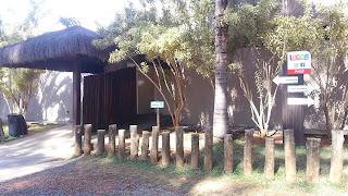 banheiros do camping - Lagoa Termas Parque