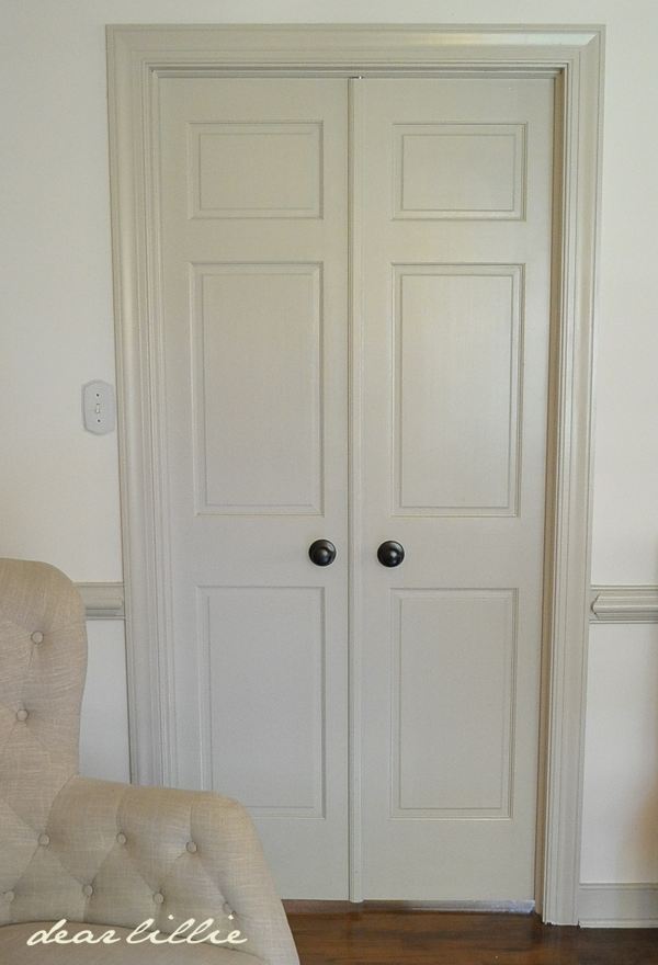 Dear Lillie: Painting the Doors and Changing out the Knobs