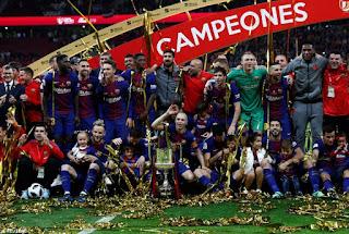 FÚTBOL - Cuarta Copa del Rey seguida para el Barcelona con goleada incluida al Sevilla (0-5)