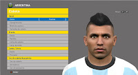 PES 2016 Sergio Agüero Face by JR Facemaker