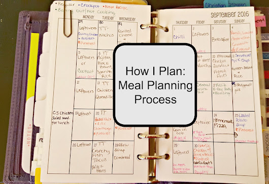 How I Plan: Meal Planning Process