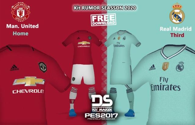 b19e1da61b0 PES 2017 Man United & Real Madrid 19-20 Kits Leaked