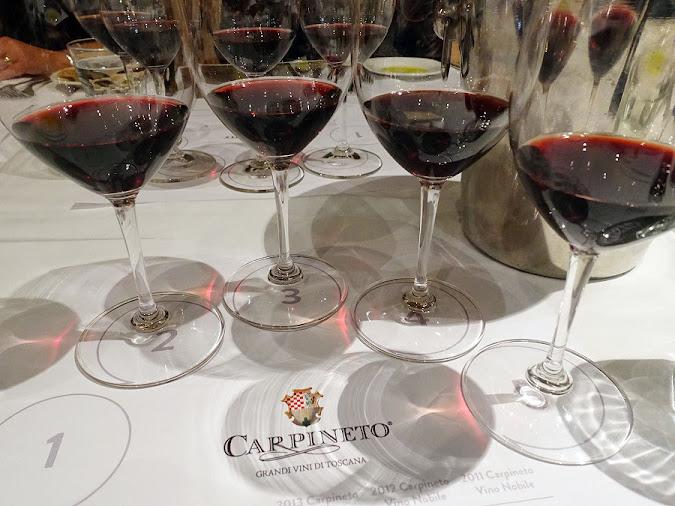 Carpineto Vino Nobile di Montepulciano 2015 - 2011 vertical wine tasting