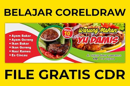 Download Desain Banner Spanduk Rumah Makan Keren Format CorelDraw .cdr