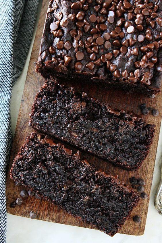 Chocolate Gluten Free And Vegan Banana Bread #chocolate #glutenfree #vegan #veganrecipes #veggies #banana #bread #dessertrecipes #cake #cakerecipes