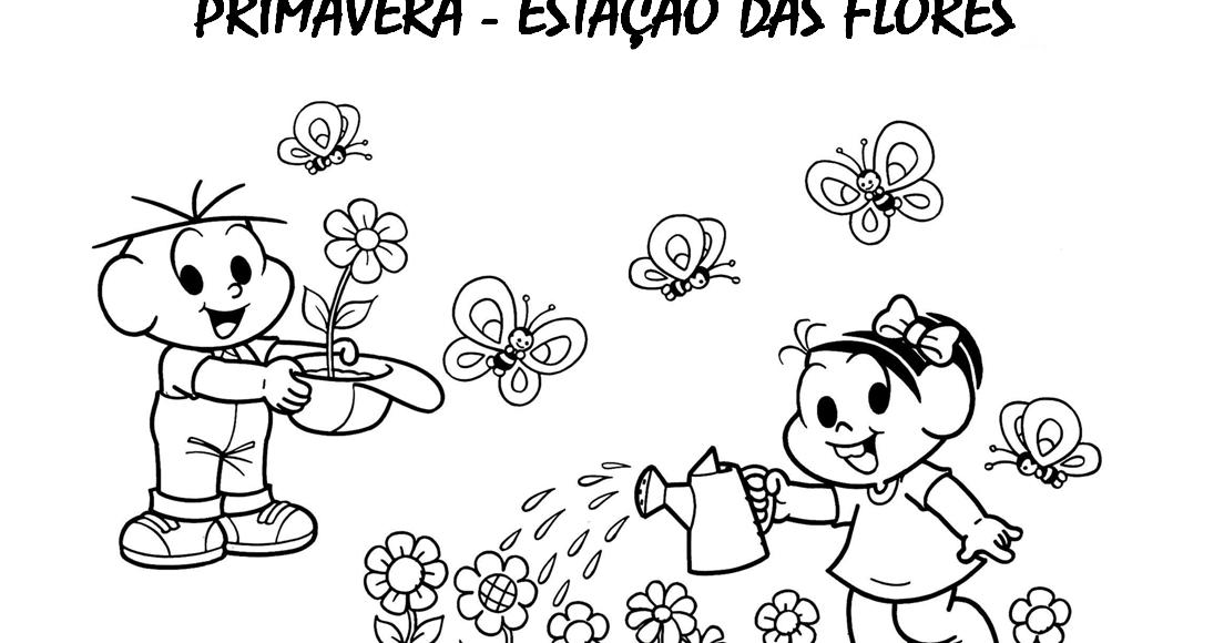 Primavera Turma Da Mônica Atividades E Desenhos Para Colorir