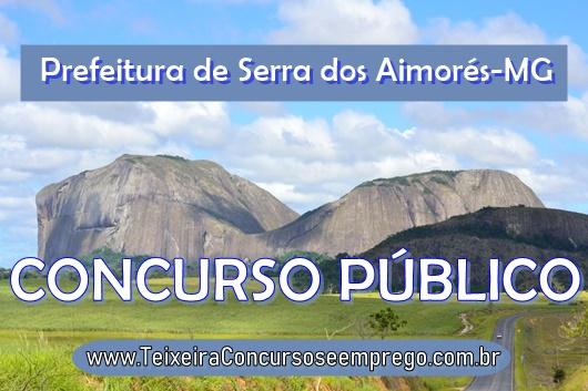 edital Prefeitura de Serra dos Aimorés concurso público 01/2019