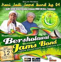 Ribuan Jamaah Sholawat Bondowoso Melantunkan Sholawat Nabi di Alun-alun Tamanan