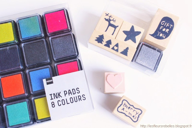 Tampons et encres de couleur Hema