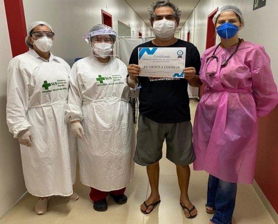 JARU: Paciente que estava na UTI vence a Covid-19 e recebe alta