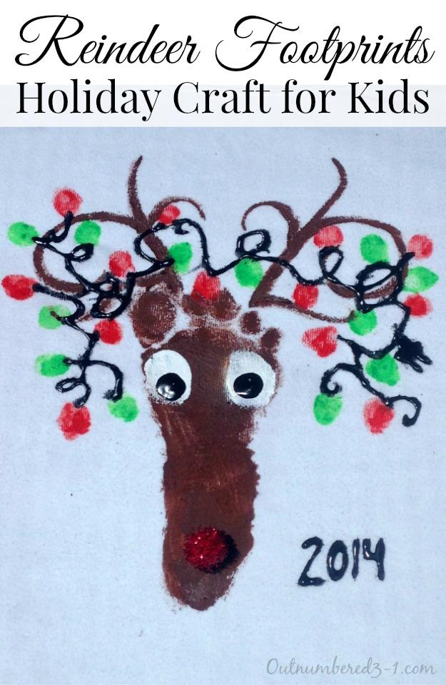 Reindeer Footprints, Holiday Craft for Kids, Holiday Crafts