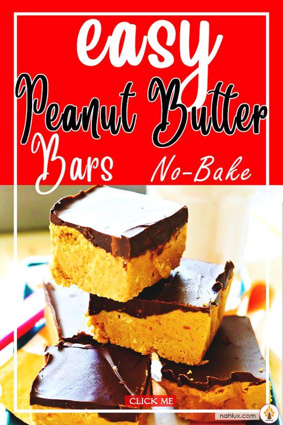 Easy Peanut Butter Bars No Bake