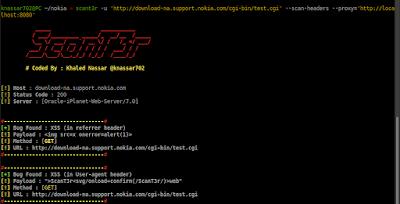 ScanT3r - Web Security Scanner darkcyberweb