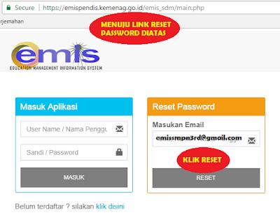gambar cara reset password emis pendis