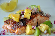 Salmon with Tropical Salsa