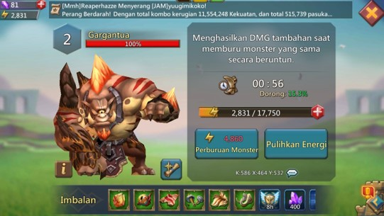 Cara Melawan Monster Gargantua Lord Mobile