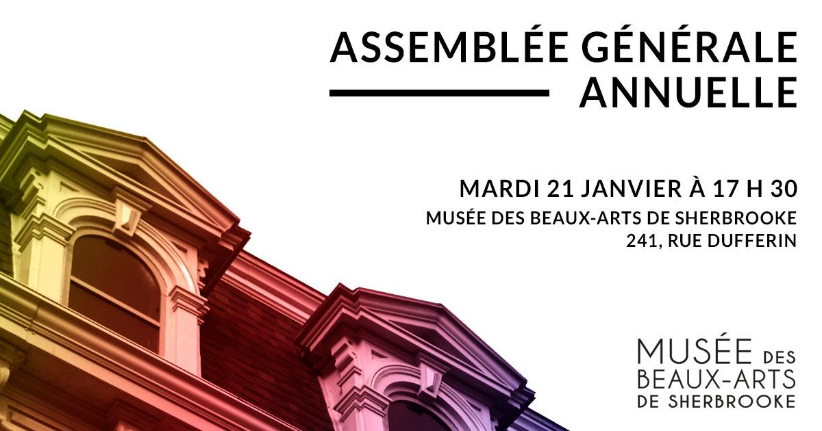 Assemblée générale annuelle du Musée des beaux-arts de Sherbrooke