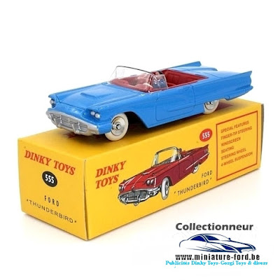 Dinky Toys, éditions Atlas, Ford Thunderbird 555
