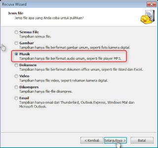 Recovery File Yang Terhapus Di PC Windows7 Dengan Recuva