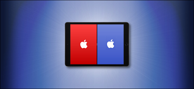 مثال على Apple Split View على iPad