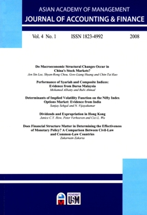 Asian Academy of Management Journal of Accounting and Finance (AAMJAF)