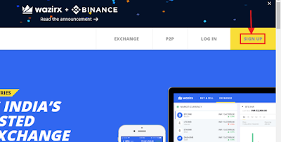 sign up bitcoin invest wazirx