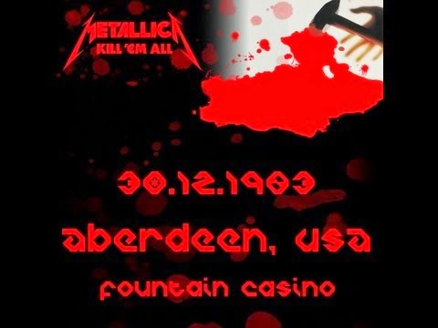 Metallica at The Fountain Casino ad Dec 30, 1983