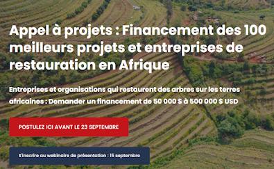 Appel à projets : Financement des 100 meilleurs projets et entreprises de restauration en Afrique