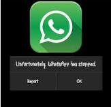 Unfortunately Whatsapp stopped