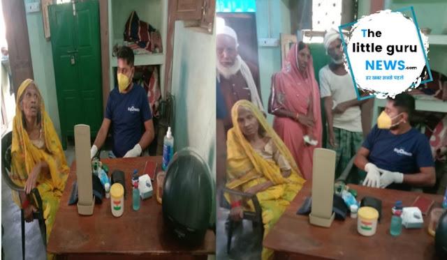 बाढ़ प्रभावित क्षेत्रों में नि:शुल्क मेडिकल कैम्प लगा स्वास्थ्य की हुई जांच