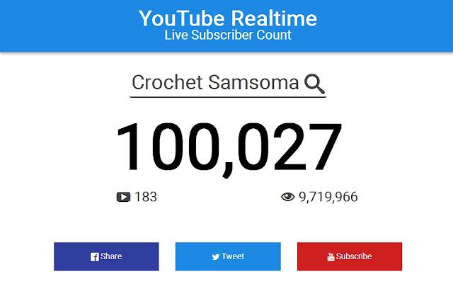 100000 مشترك . شكر وتقدير وصلت ل 100000 مشترك بقناتي على اليوتوب  . شكرا مئة ألف مشترك . 100,000 Subscriber  . شكرا لكل المشتركات لقد وصلنا لمئة ألف (100,000) مشتركة محبة لفن الكروشيه الجميل