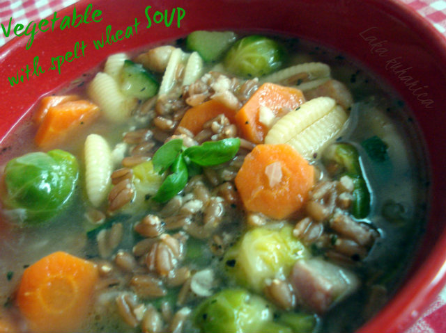 Vegetable soup with spelt wheat by Laka kuharica: delicious and nourishing vegetable soup is a meal on it's own.