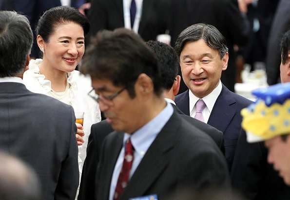 Emperor Naruhito and Empress Masako also visited an animal welfare center at Odate station in Akita