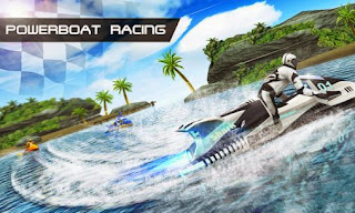 Screenshots of the Powerboat Racing 3D for Android tablet, phone.