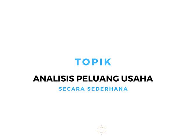 cover artikel analisis peluang usaha