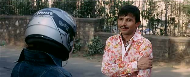 After being thrown off the bus, KRK almost crashes into a bike